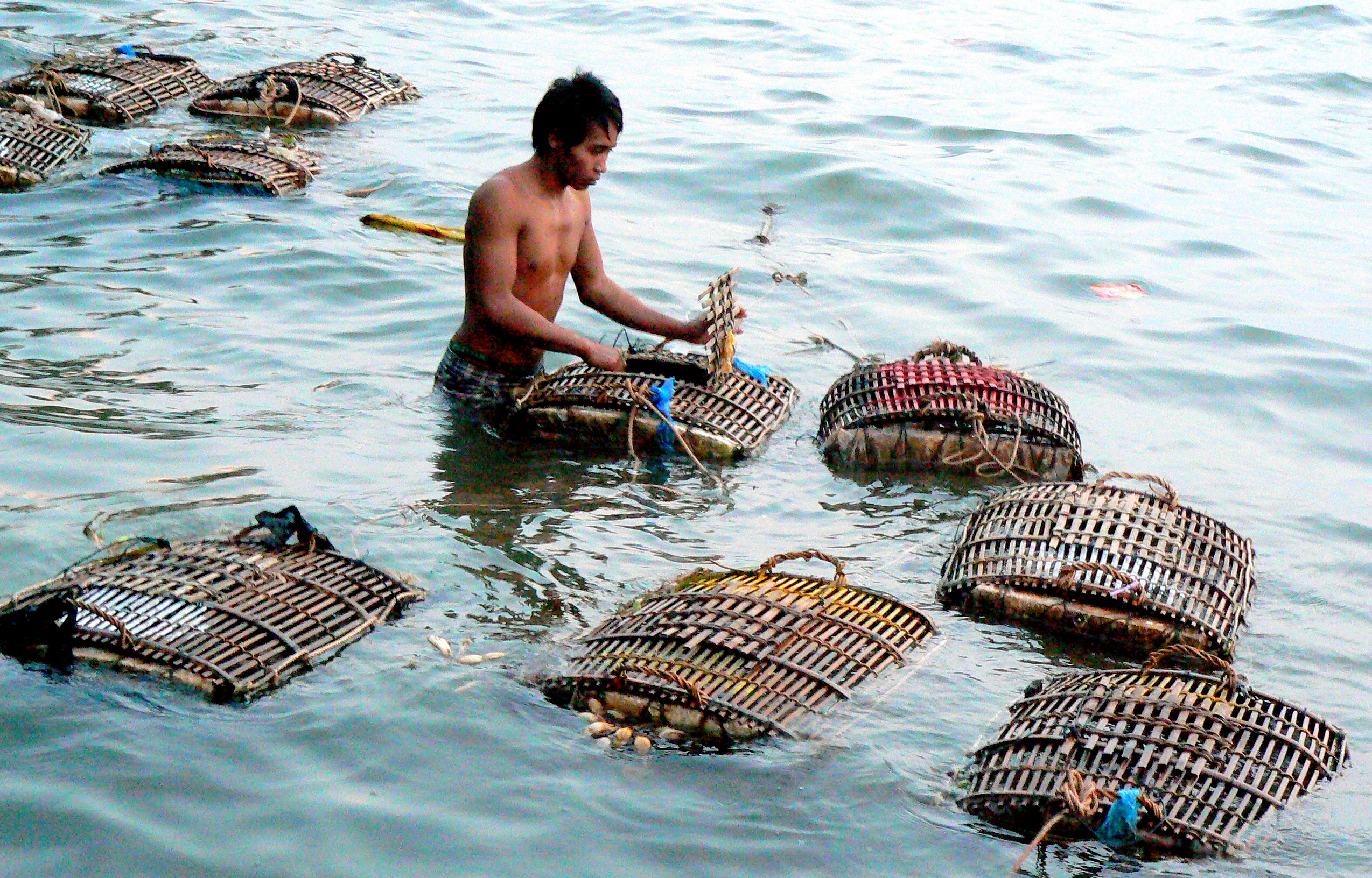 checking-crab-keeper-traps-3