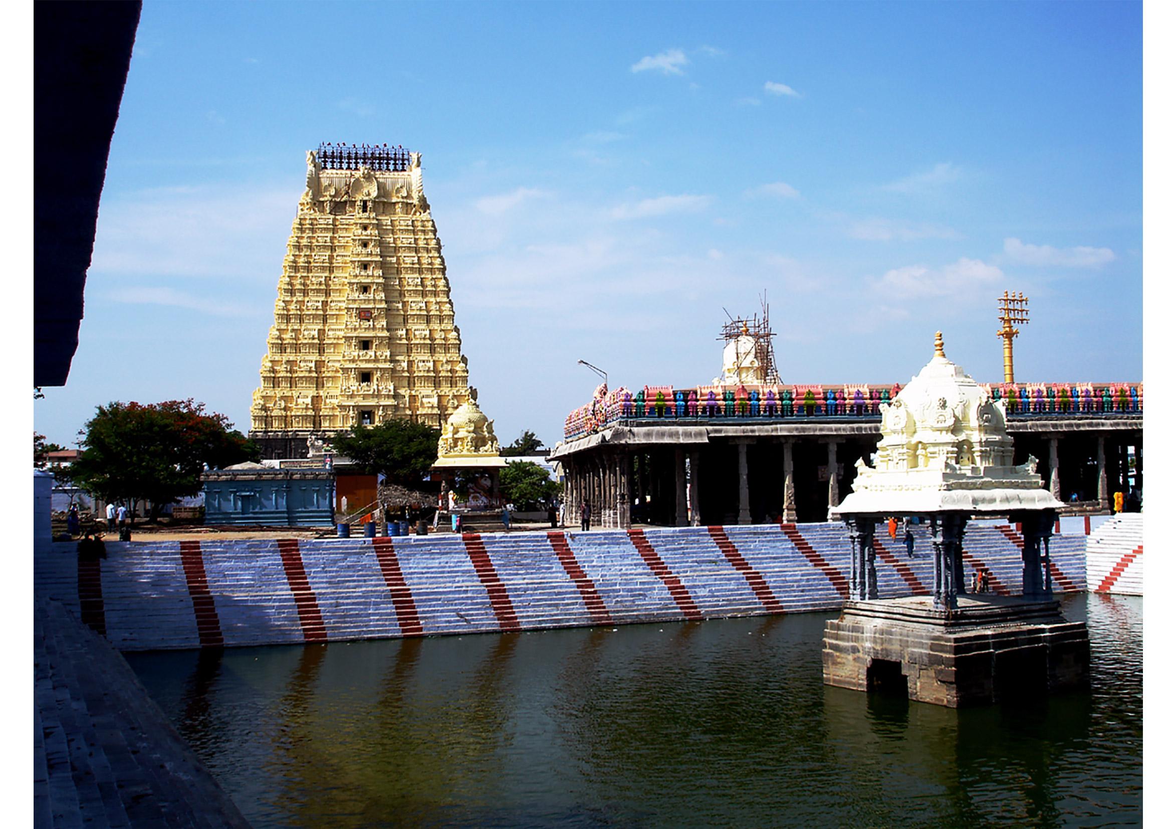 Ekambareswarar-temple,-Kanchipuram,-Tamil-Nadu