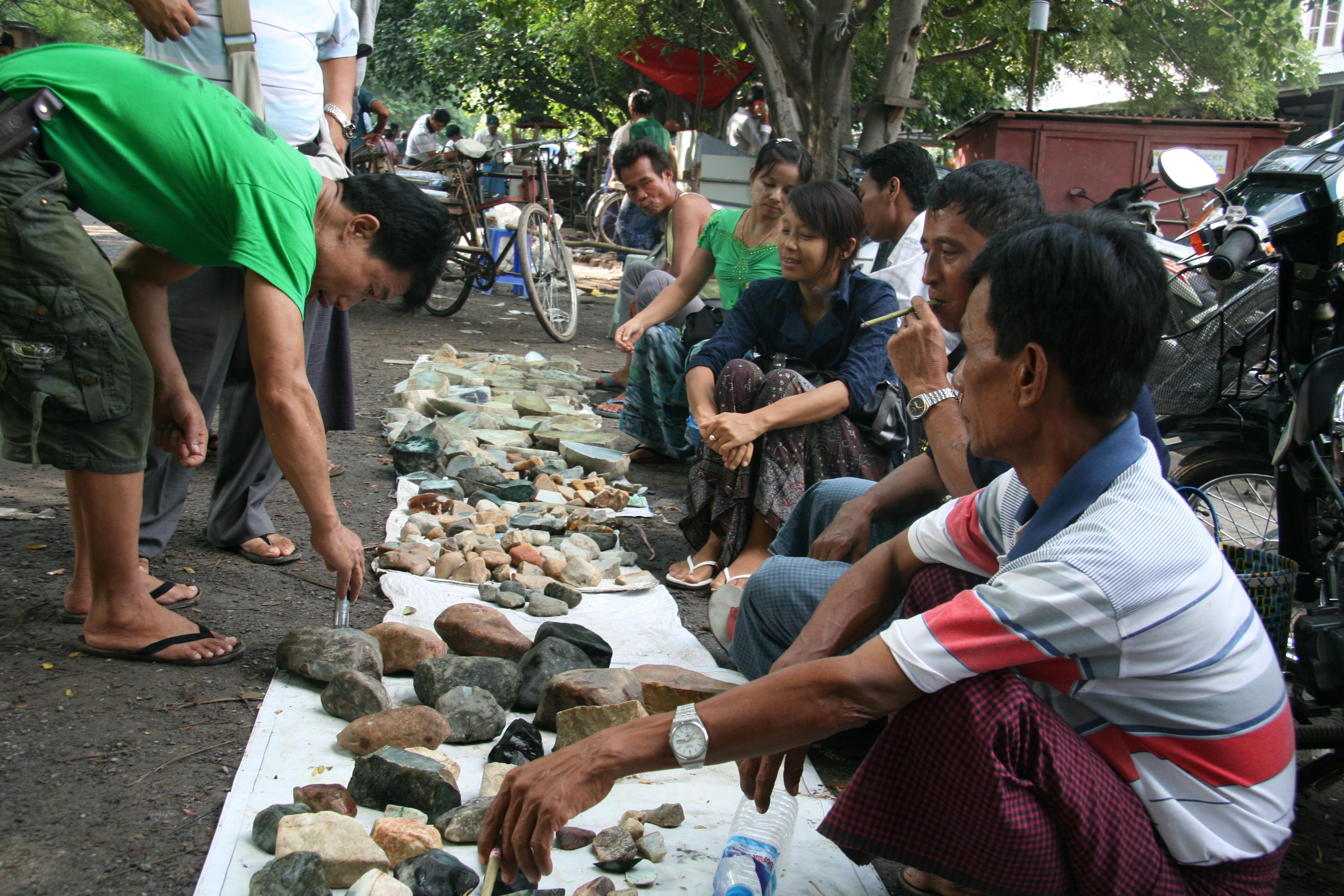 7.Raw Gems (Raw Jade market)