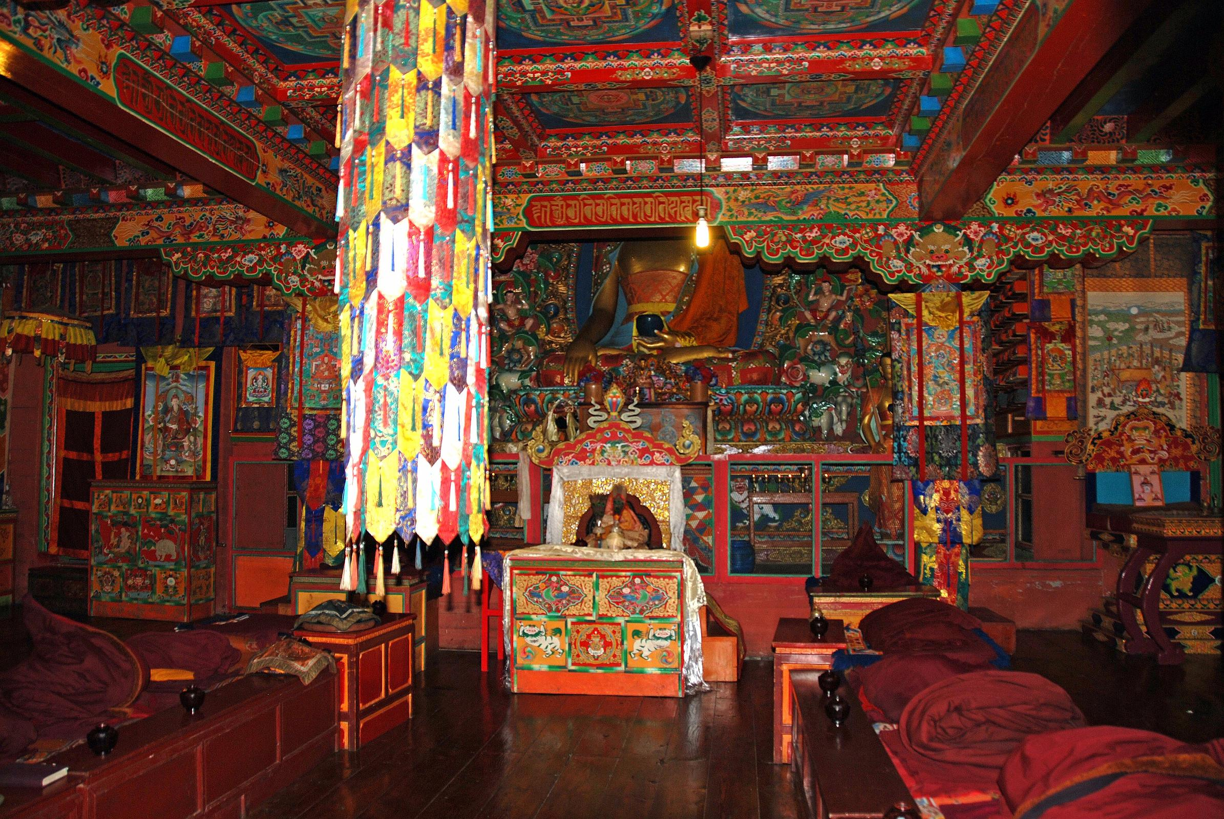 20 Tengboche Gompa - Wide View Of Altar