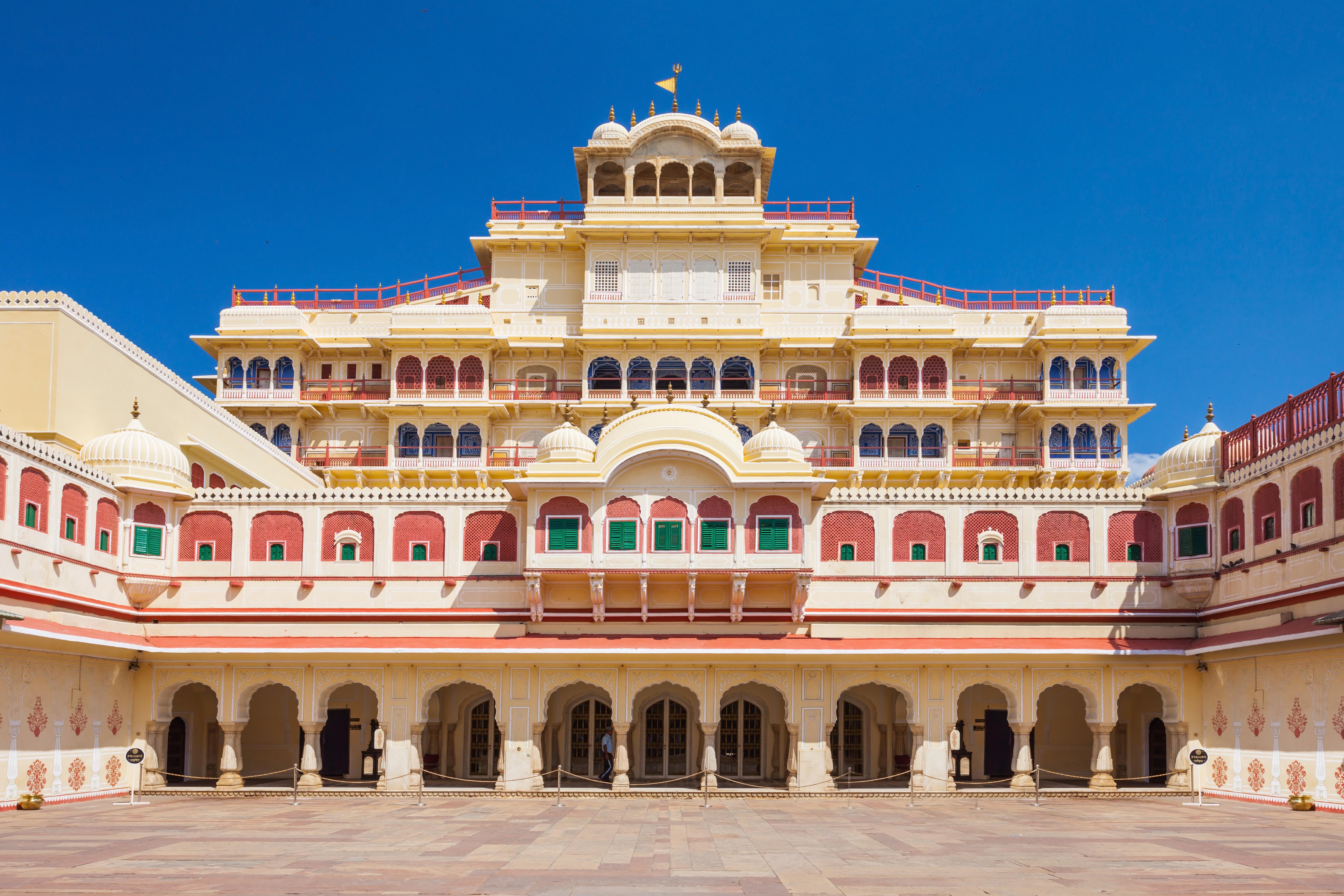 Chandra Mahal Palace (City Palace) in Jaipur, India_shutterstock_197619596