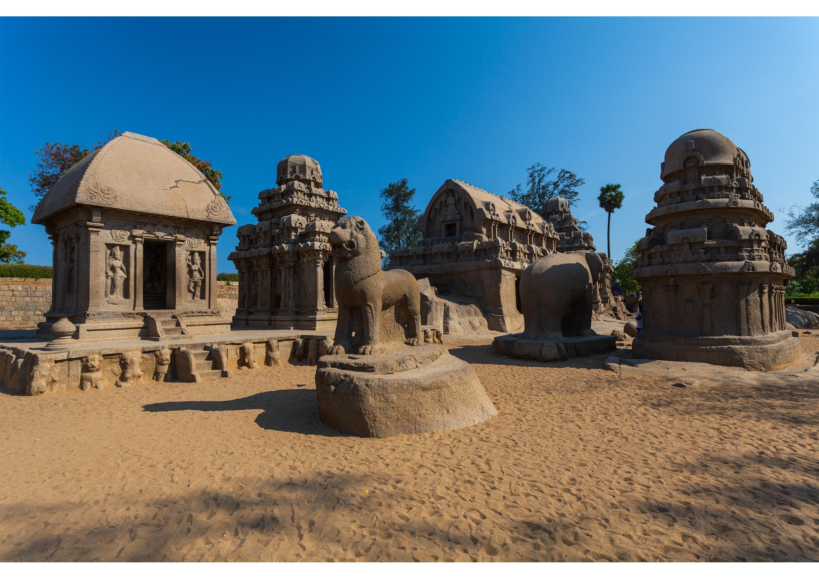 Mahabalipuram,-Five-Rathas