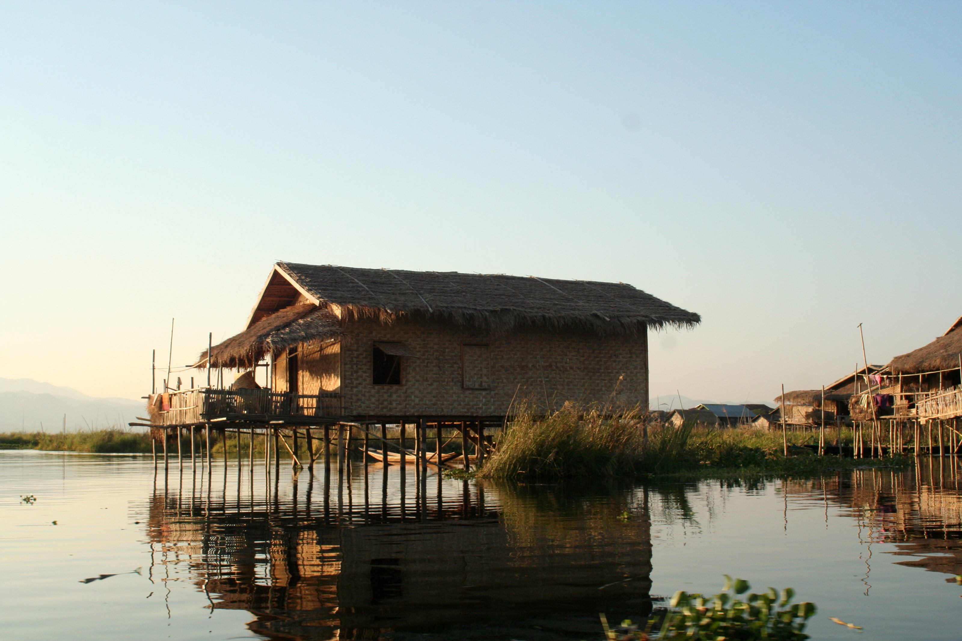 Inle house on the lake