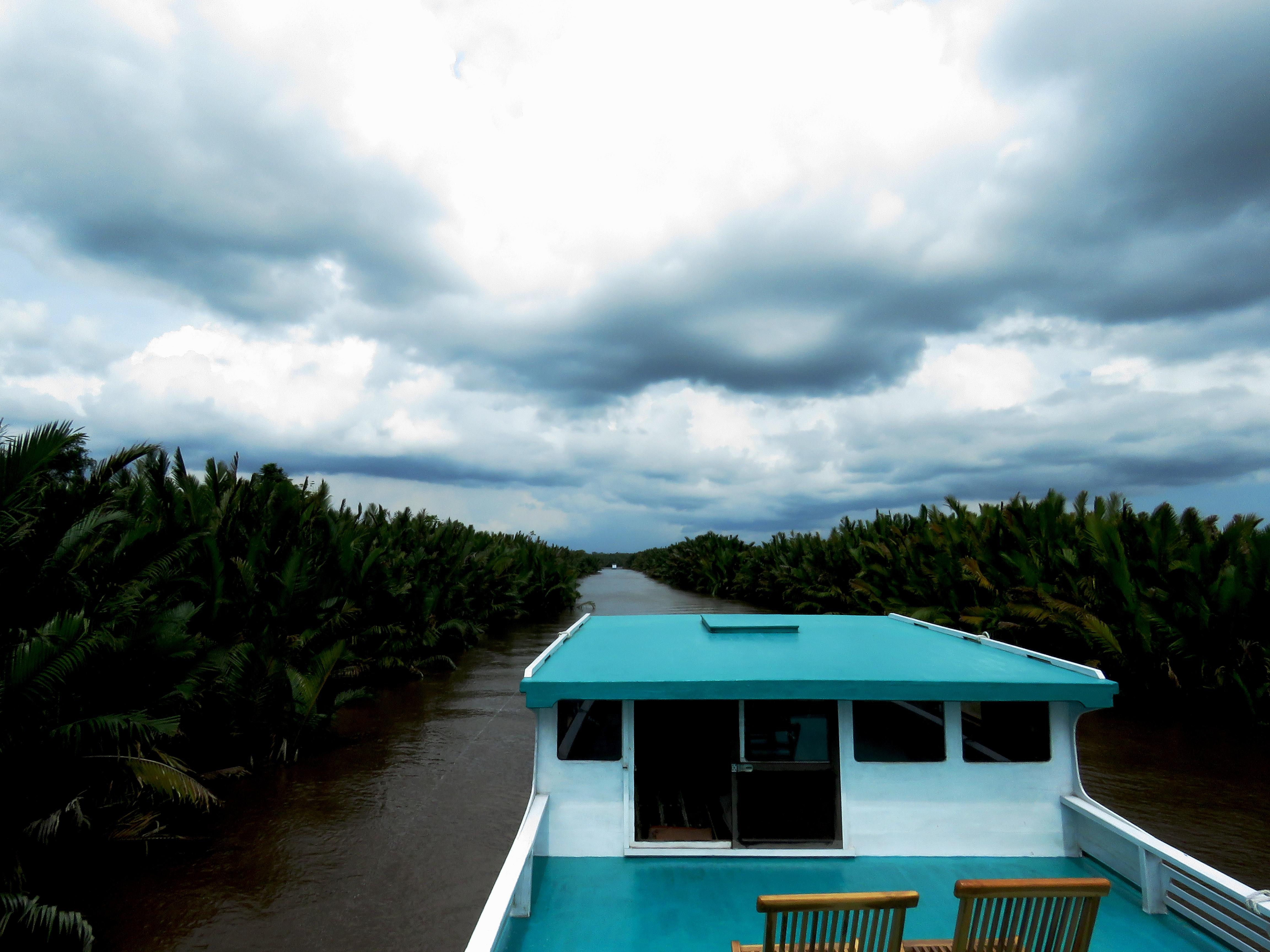 Garuda King Klotok Boat  - Upper open air deck