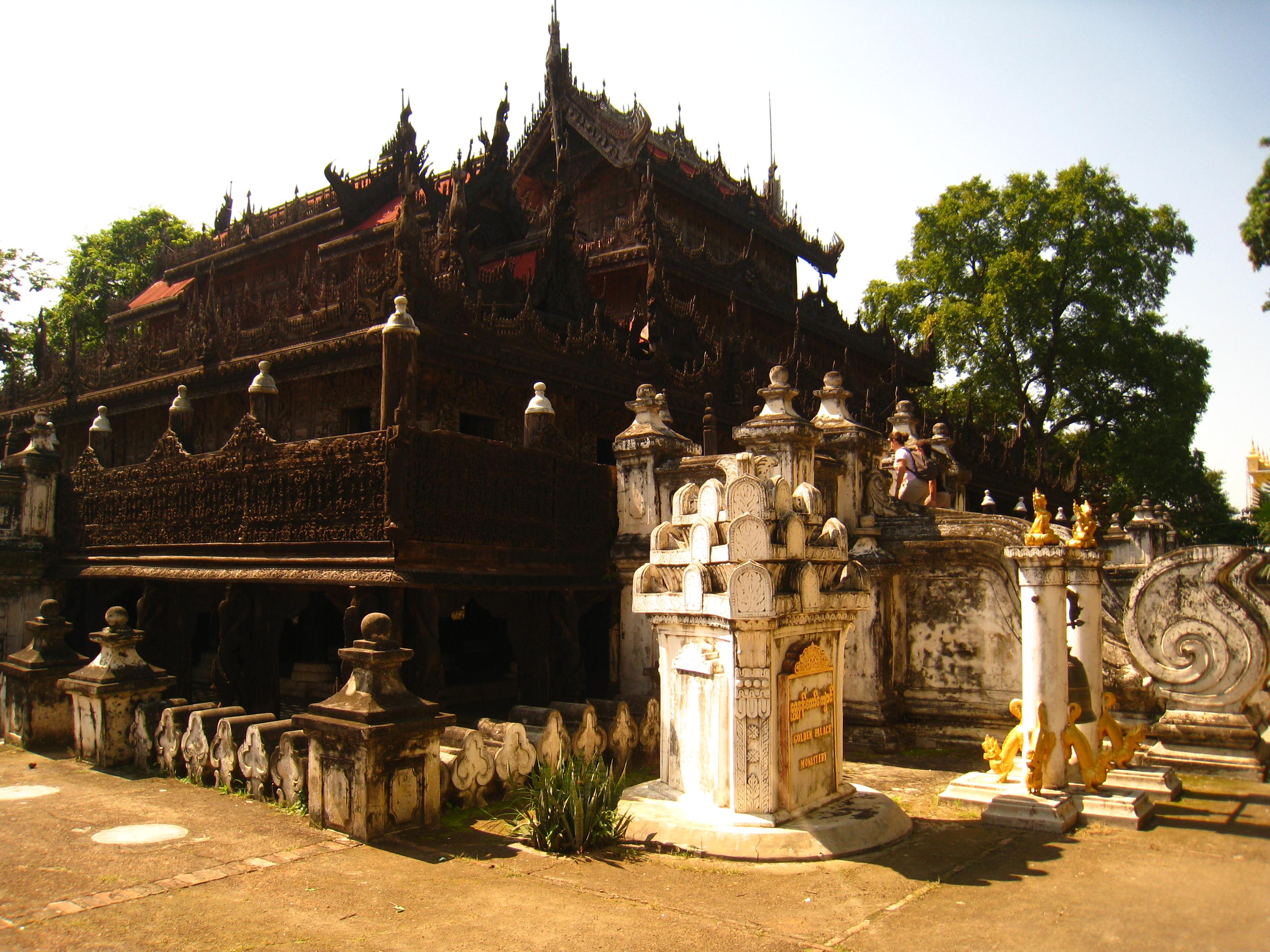 Golden teak monastery