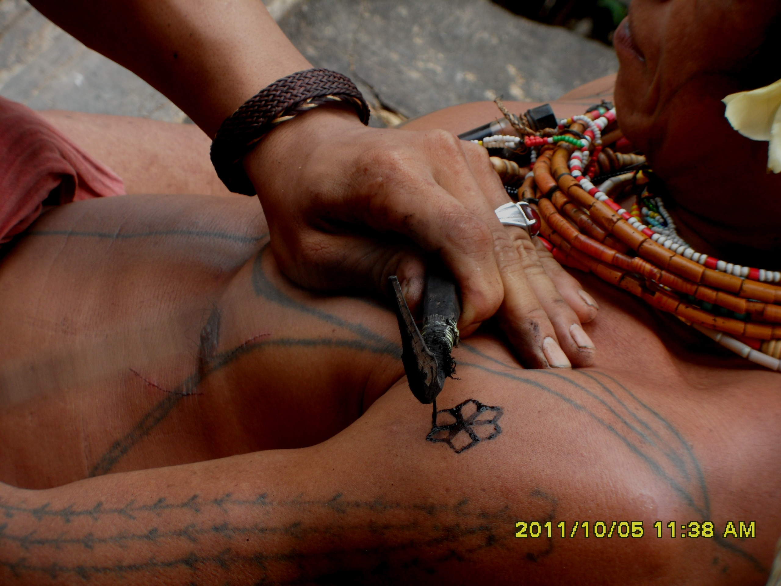 Mentawai Tribe  Traditional Tatoo 3
