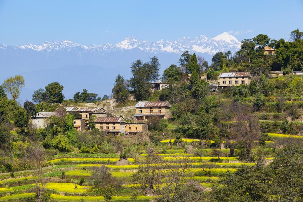 Nagarkot village with Himalaya background shutterstock_519600931
