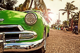 Cuba old american car