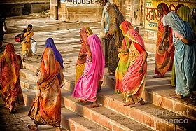 Indian women in sari