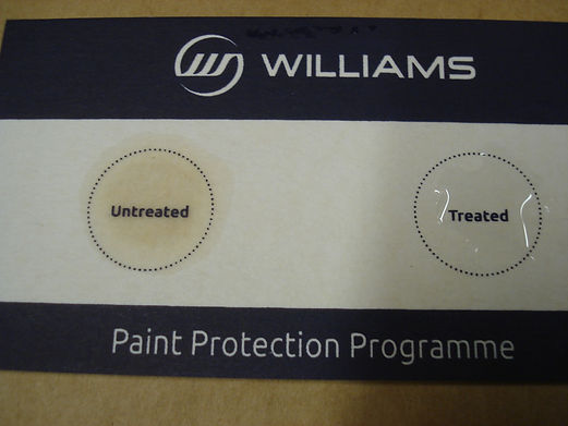 Wate repellant Paint Protection card