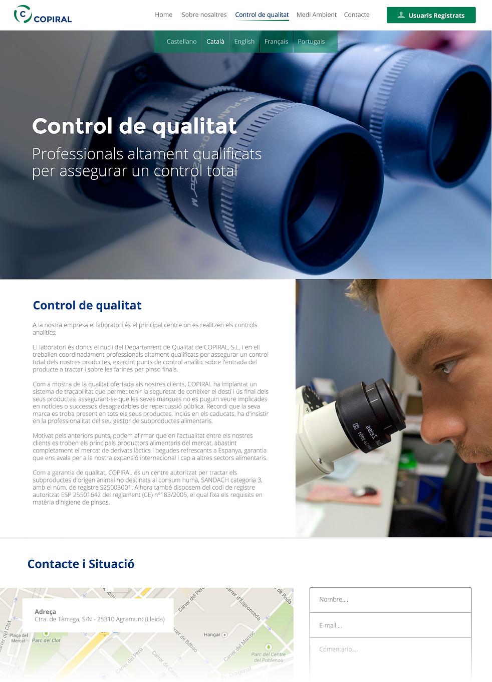 Copiral | Control de qualitat