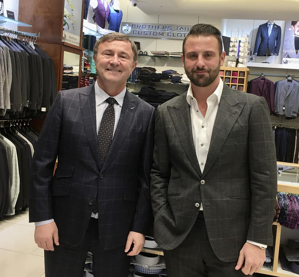 Brothers Tailors Gus and Peter Zistas