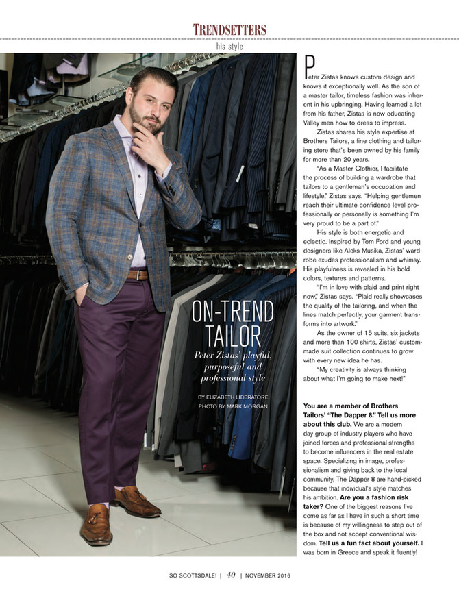 Pete Zistas Featured in So Scottsdale Magazine