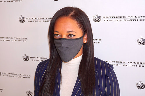 Tailored Cotton Face Mask | Mini-Check Black