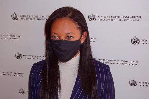 Tailored Cotton Face Mask | Plain Black
