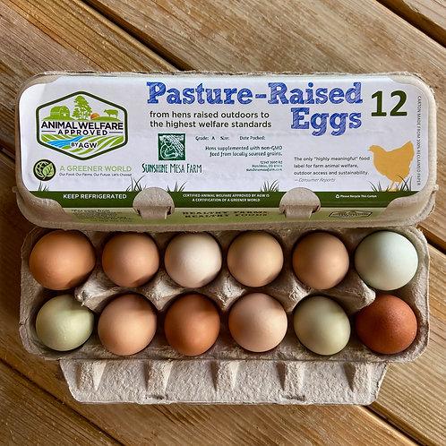 Eggs - 1 Dozen Pasture-Raised, Non-GMO
