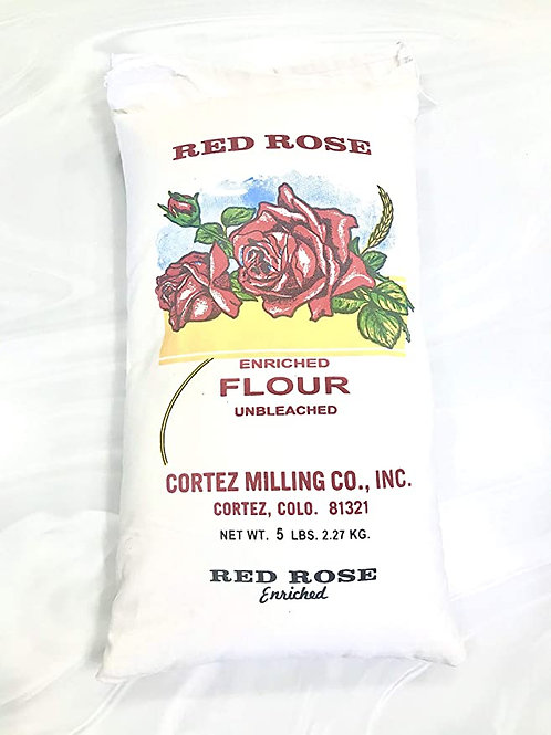 Red Rose All Purpose Unbleached Flour - 5#
