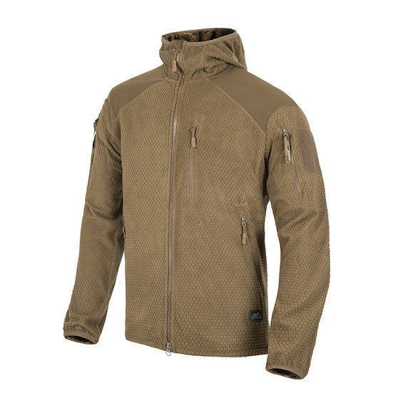 HELIKON ALPHA HOODIE JACKET - GRID FLEECE