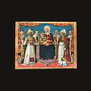 Madonna col Bambino tra i Santi Cornelio e Cipriano