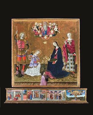 Annunciazione tra i Santi Michele Arcangelo e Caterina d'Alessandria.