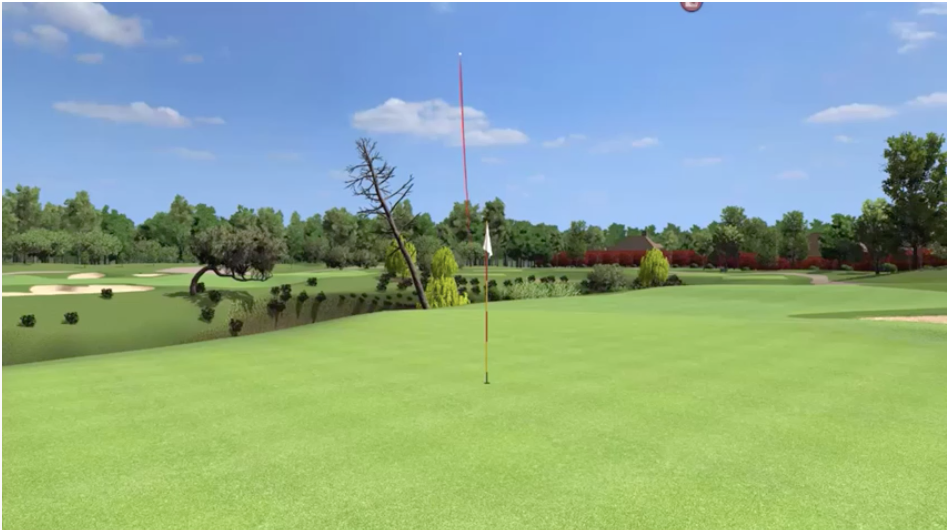 most amazing golf sim shot