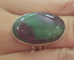 Ruby Zoisite Ring (sterling)