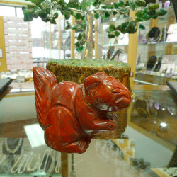 Red Jasper Carving