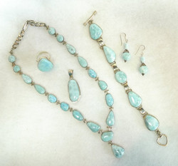 Larimar & Sterling Jewelry