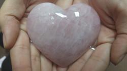 Big Rose Quartz Heart