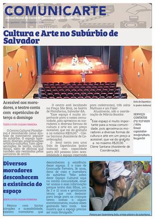 Comunicarte trata da arte suburbana em Salvador