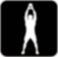 discipline Tabata fond noir silouhete tr