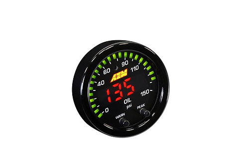 AEM X-SERIES OIL PRESSURE GAUGE KIT | 0-150 PSI