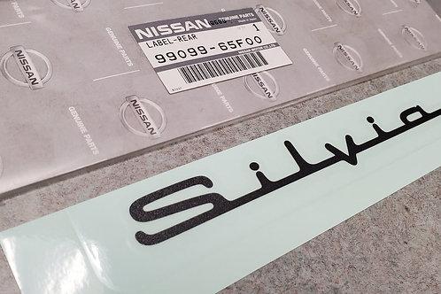 GENUINE JDM NISSAN SILVIA EMBLEM | BLACK | 99099-65F00