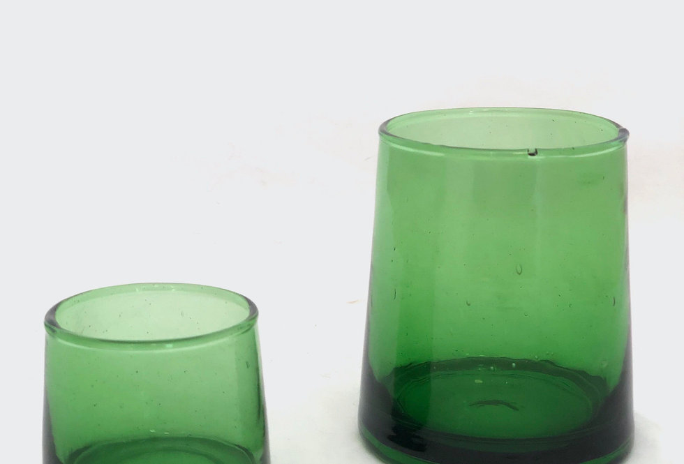 Green Shot Glass