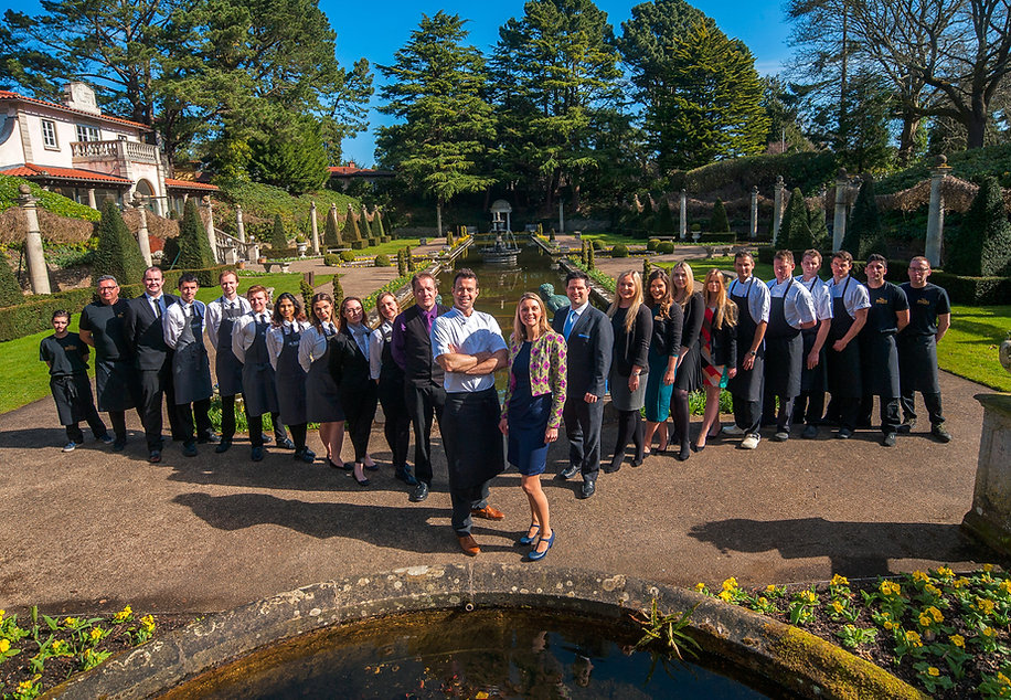 corporate photography of the team at the Italian Villa, Poole
