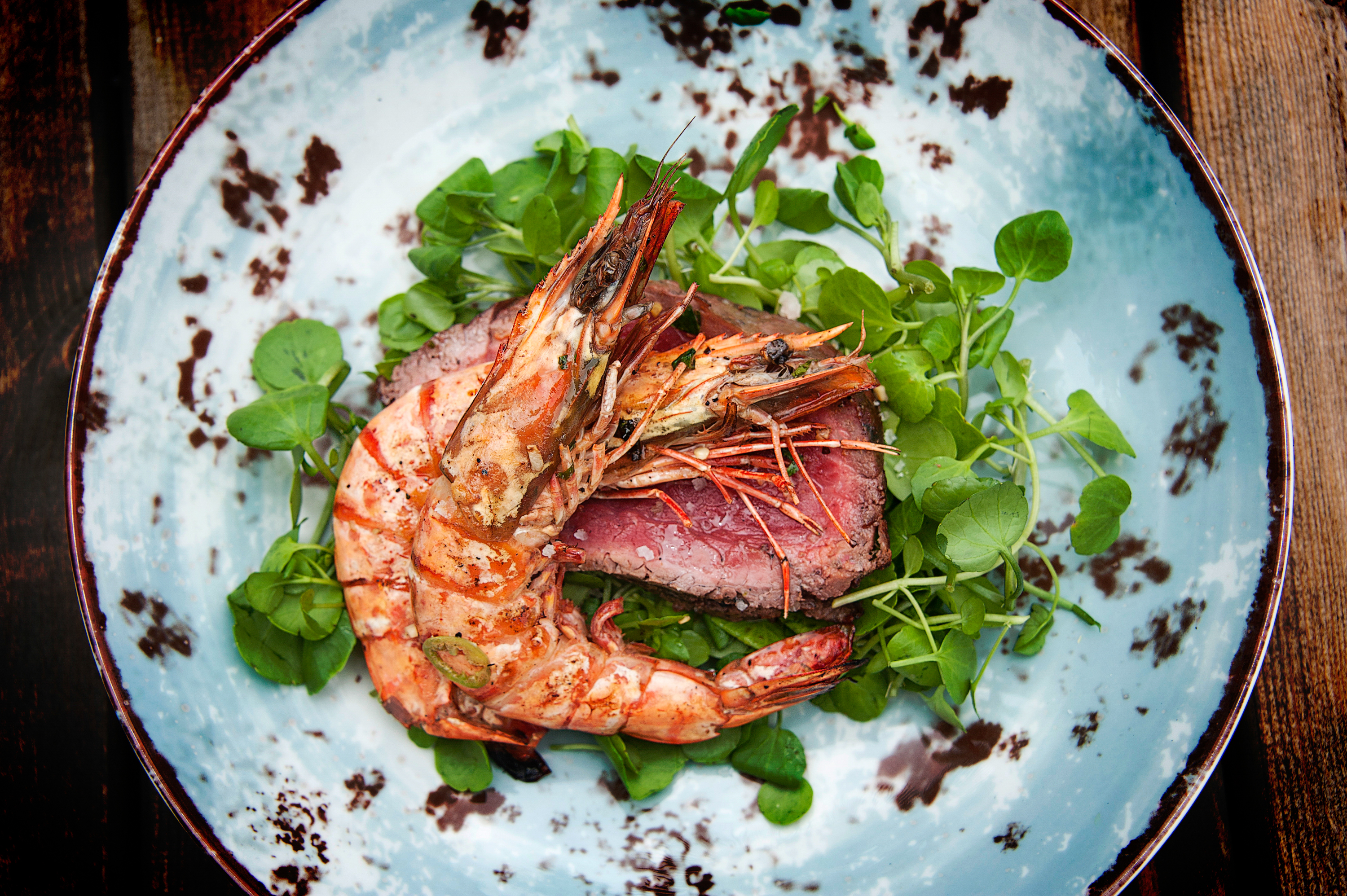 surf & turf, food photography Dorset