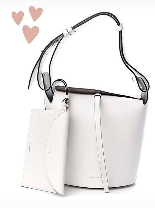 Burberry White Bucket Bag