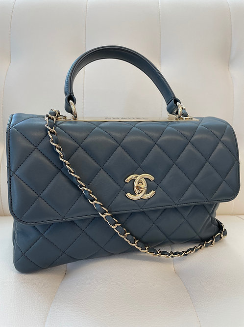 Chanel Quilted Flap Bag With Handle