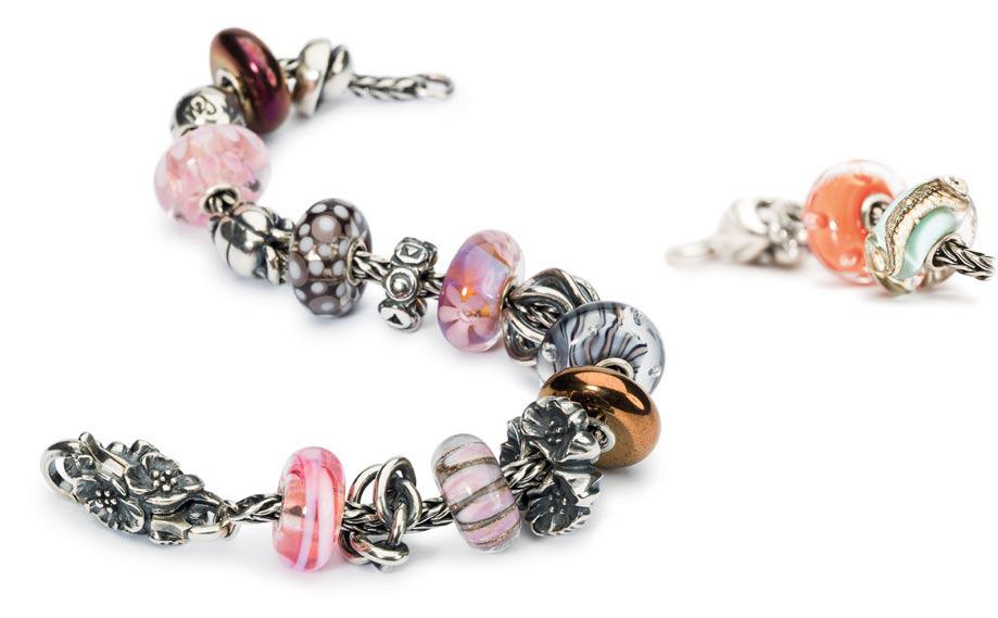 bracelet rose trollbeads