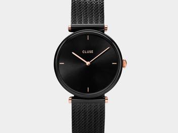 montre-cluse-triomphe-mesh-black