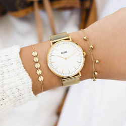 montre-cluse-la-boheme-mesh-gold-white-1