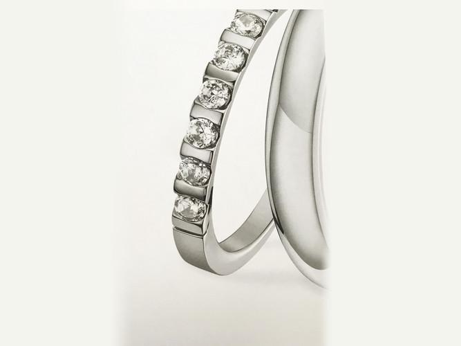 alliance argent diamants