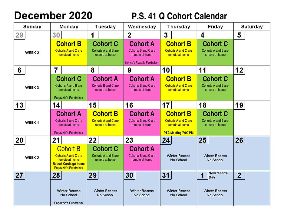 December 2020 cohort calendar PS41Q-page