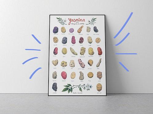 Poster A2 - Yasmina en de aardappeleters