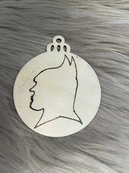 Batman Silhouette Wood Ornament