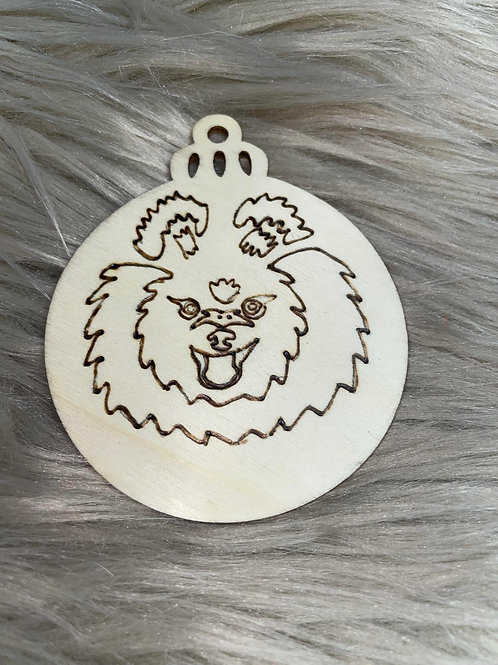 Pomeranian Wood Ornament
