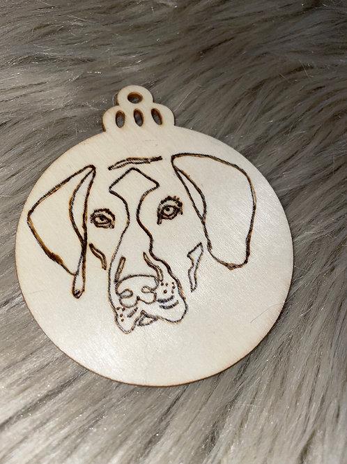 German Shorthair Wood Ornament