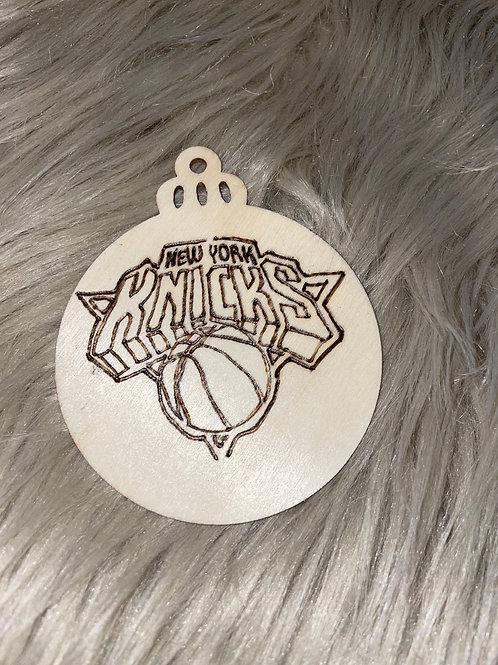 New York Knicks Wood Ornament