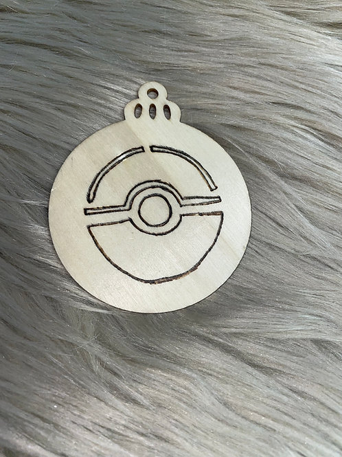 Pokémon Ball Wood Ornament
