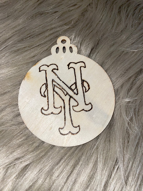 New York Mets Wood Ornament